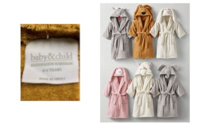 RH Recalls Children's Bath Wraps Due to Violation of Federal Flammability Standard