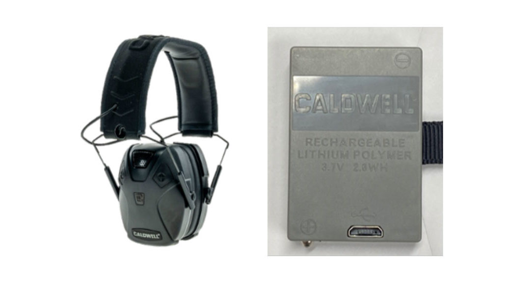 American Outdoor Brands voluntarily issued a recall of the Caldwell E-Max Pro BT Earmuffs
